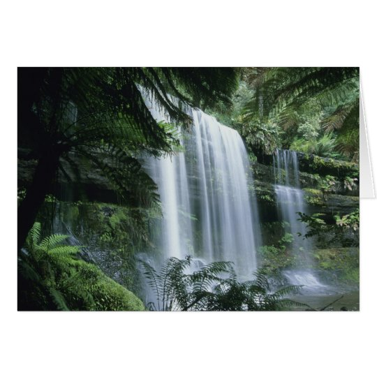 Tasmania, Mt. Field National Park, Russell Falls Card
