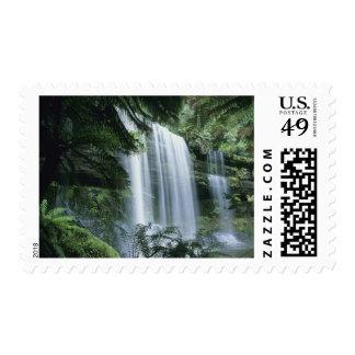 Tasmania Mt Field National Park Russell Falls Stamp