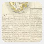 Tasmania Oceanía ningunos 58 Pegatina Cuadrada