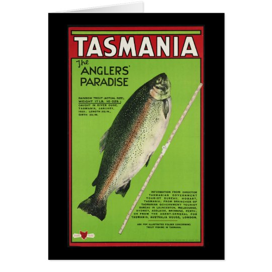 Tasmania The anglers' paradise Card