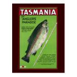 Tasmania ~ The Angler's Paradise Postcard
