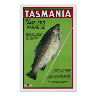 Tasmania ~ The Angler's Paradise Posters