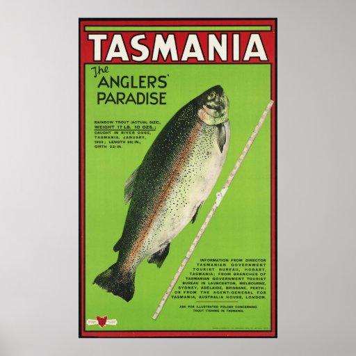 Tasmania The anglers' paradise Poster
