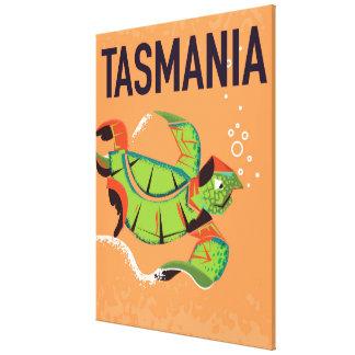 Tasmania vintage travel poster. canvas print