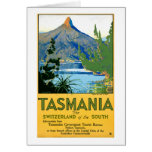 Tasmania Vintage Travel Poster Restored Card