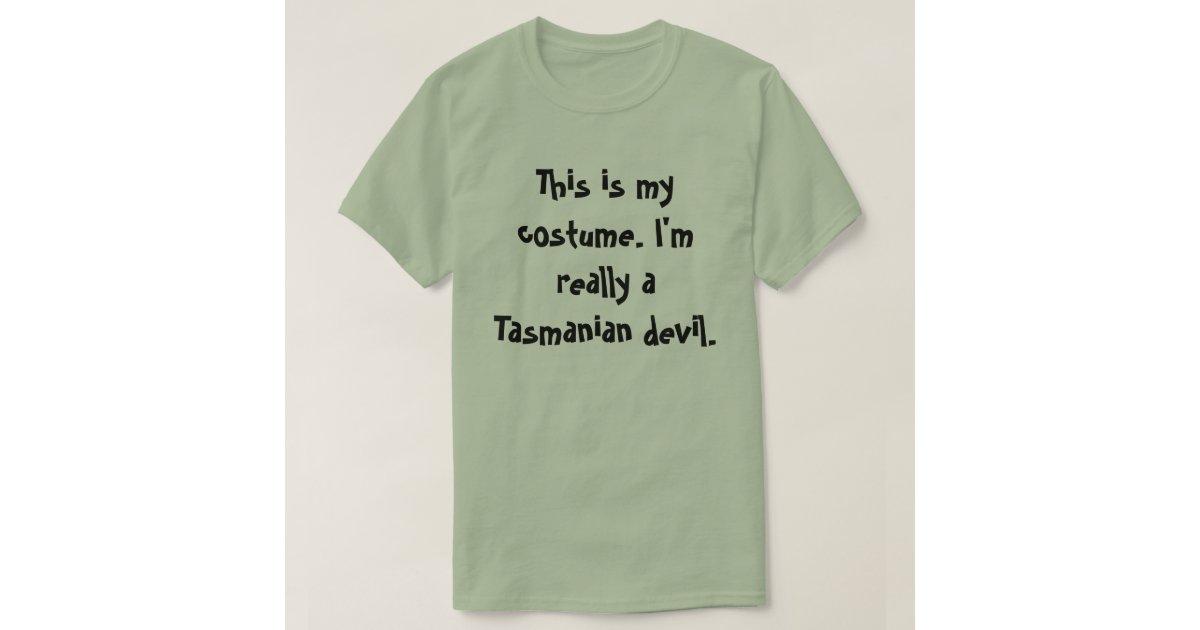 Tasmanian Devil Costume T Shirt Zazzle
