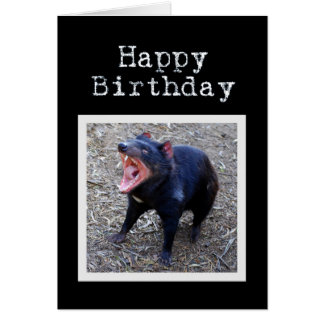Tasmanian Devil Happy Birthday Card