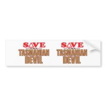 Tasmanian Devil Save Bumper Sticker