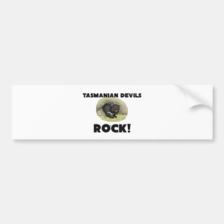 Tasmanian Devils Rock Bumper Sticker