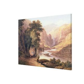 Tasmanian Gorge (w/c) Canvas Print