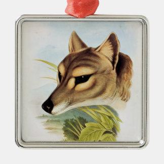 Tasmanian Wolf or Tiger Metal Ornament