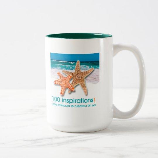 Tasse 100 inspirations Two-Tone coffee mug