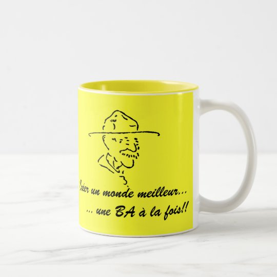 Tasse à café, Scoutisme & Castor Two-Tone Coffee Mug