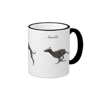 TASSE Azawakhs noir et blanc Ringer Coffee Mug