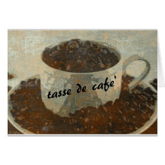 tasse de cafe'2 card