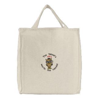 Tassel Grad 20XX Embroidered Tote Bag