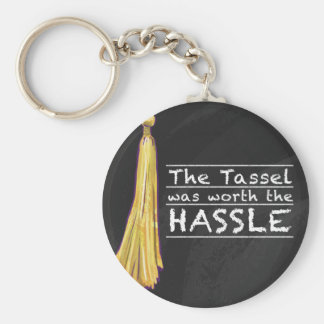 Tassel Hassle Silver Keychain