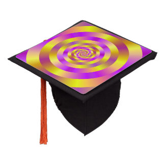 Tassel Topper   Yellow and Pink Spiral Rings