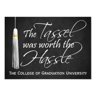 Tassel Worth the Hassle College Graduation, Medium Card