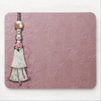 Tasseled Rose Dreams Mouse Pad