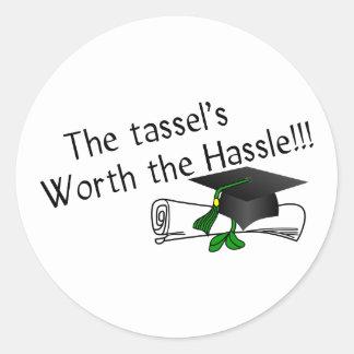 Tassels Worth Classic Round Sticker
