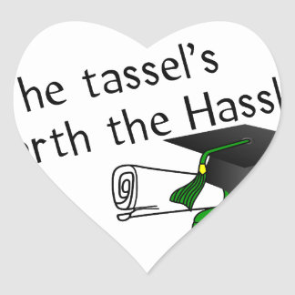Tassels Worth Heart Sticker