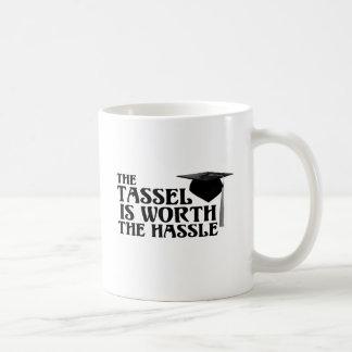 Tassle Worth the Hassel Classic White Coffee Mug