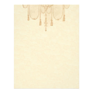 Tassles en efectos de escritorio del oro membrete a diseño