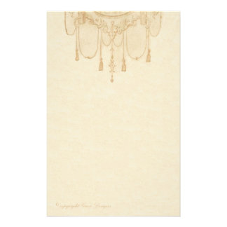 Tassles in Gold Stationery