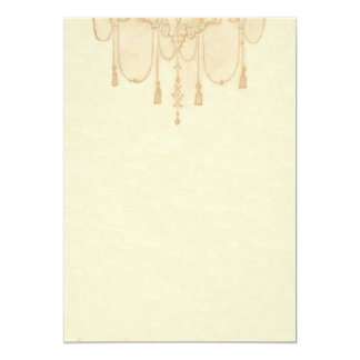 Tassles in Gold Stationery Card