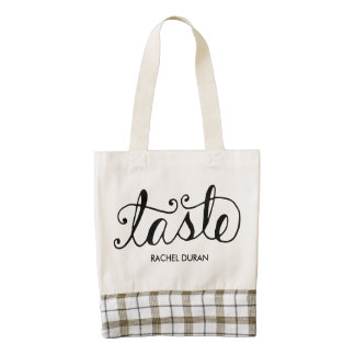 taste calligraphy tote bag