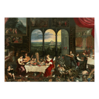 Taste, Hearing and Touch, 1618 Card