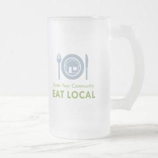 Taste Local 16 Oz Frosted Glass Beer Mug