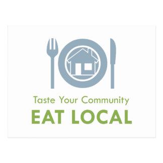 Taste Local Postcard