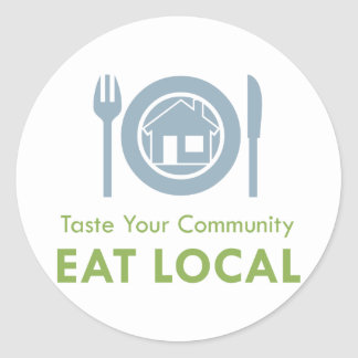 Taste Local Round Sticker