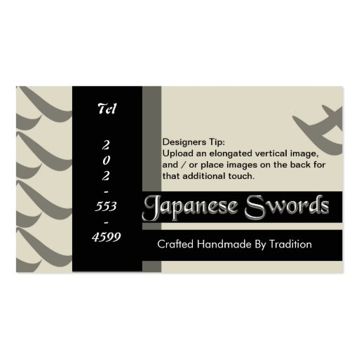 Taste of Asia - Japanese Tradition Business Card Template