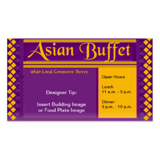 TASTE OF ASIA - Royal Dragon Double-Sided Standard Business Cards (Pack Of 100)