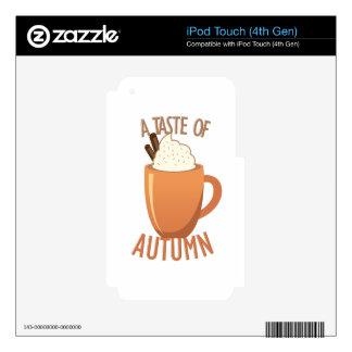 Taste Of Autumn iPod Touch 4G Skins
