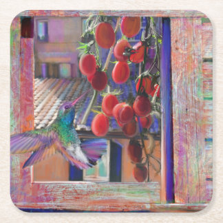 Taste of Italy Square Paper Coaster