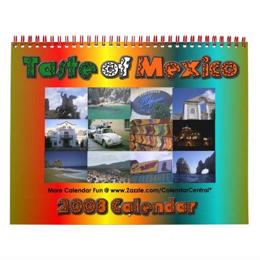 Taste of Mexico Calendar 2008