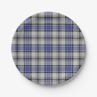 Taste of Scotland Clan Hannay Tartan Plaid Paper Plate