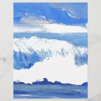 Taste of the Sea - Blue Ocean Waves Seascape