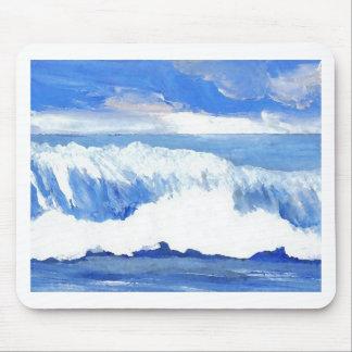 Taste of the Sea - Blue Ocean Waves Seascape Mousepads