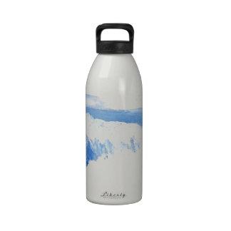 Taste of the Sea - Blue Ocean Waves Seascape Reusable Water Bottles