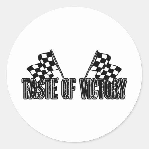 Taste of Victory Classic Round Sticker