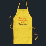 "Taste &amp; See Apron<br><div class=""desc"">BBQ or prepare delicious cuisine with the joy of the Lord!</div>"