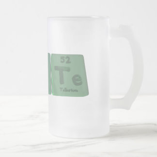 Taste-Ta-S-Te-Tantalum-Sulfur-Tellurium.png Frosted Glass Beer Mug