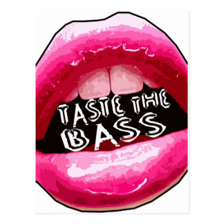 Taste the BASS Electronica Dubstep Electro HipHop Postcard