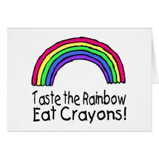 Taste The Rainbow Card