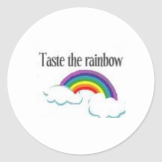 taste the rainbow classic round sticker